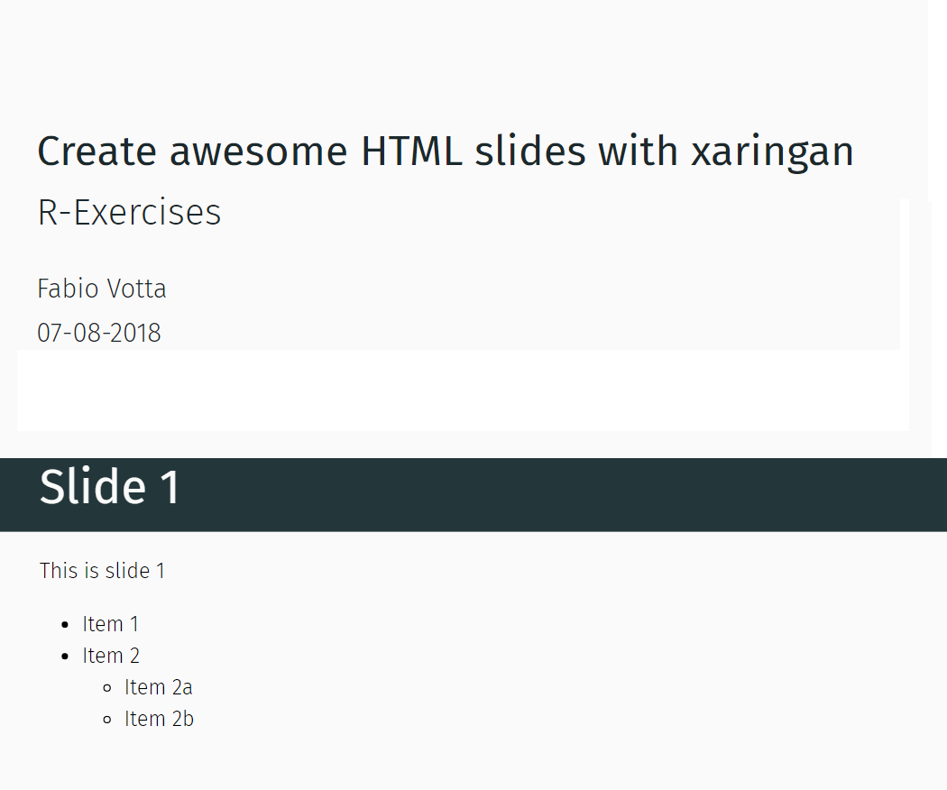 Create awesome HTML slides with xaringan | favstats - personal blog