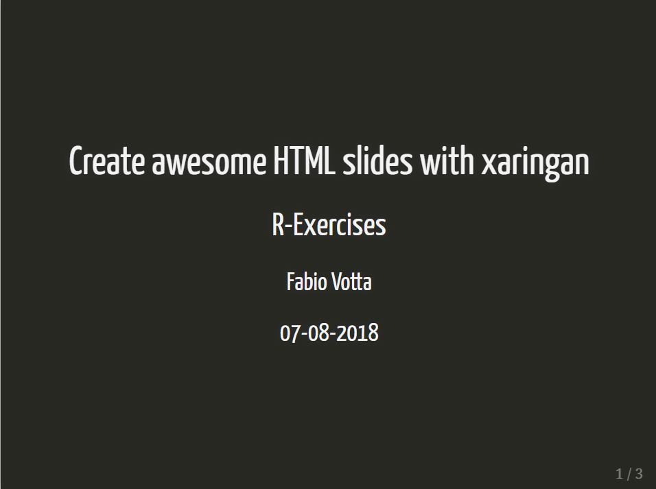 Create awesome HTML slides with xaringan | favstats - personal blog